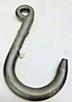 "PEERLESS Foundry Hook, Steel, 80 Grade, Eye, Offset, 3/8"" Trade Size, FSA113S"