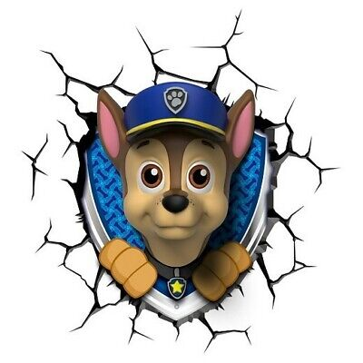 Chase Paw Patrol 3D Deco Light Wall Night LED Lamp