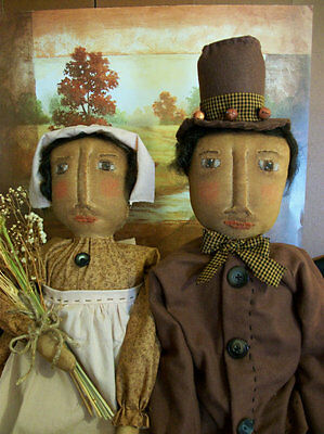 PATTERN,sewing,Primitive dolls,pilgrims,Fall home decor, Dumplinragamuffin,#186