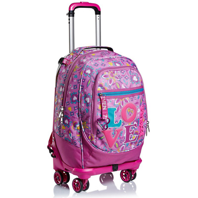 Trolley Seven Jack 4Wd Love Songs Colore Rosa