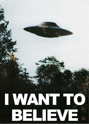 X-FILES TV Show I Want to Believe UFO Mulder Scully Office 8x10 Poster Print A2B