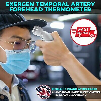 EXERGEN Temporal Artery Thermometer TAT-2000C.Free Priority Mail Shipping.