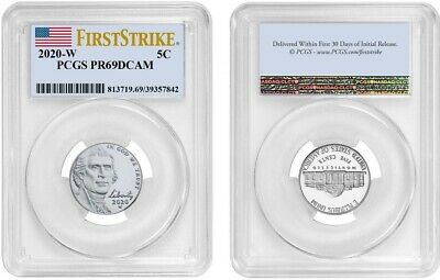 2020 W Jefferson Nickel 5C Pcgs Pr69Dcam Firststrike 7842