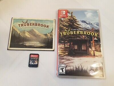 Nintendo Switch TruberBrook Game Cartridge Complete CIB w/Box,Travel Guide Visit