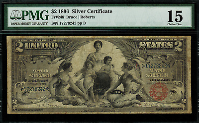 1896 $2 Silver Certificate FR-248 - Educational - PMG 15 - Choice Fine