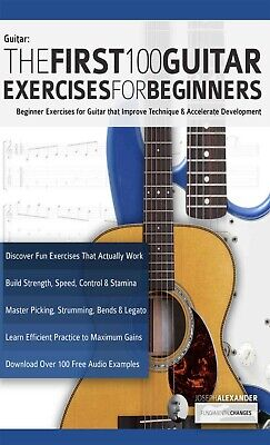 The First 100 Guitar Exercises for Beginners (Essential Guitar Methods) + Audio