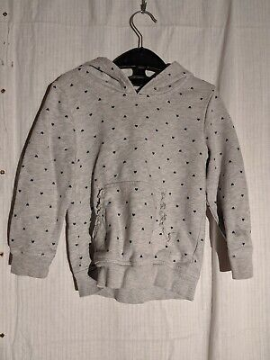 George Light Grey with Hearts in a polkadot pattern Hoodie, Age 3-4