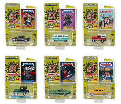 """Garbage Pail Kids"" Series 2, 6 Pc Set 1/64 Diecast Model Cars Greenlight 54030"