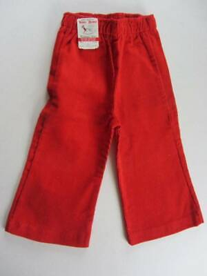 red corduroys vintage 60's trousers 18 months age 3 Buster Browns
