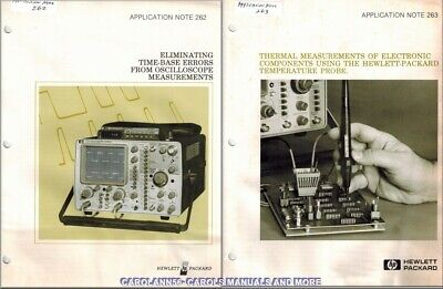 HP Application Note 262 & 263 ELIMINATING TIME BASED ERRORS FROM OSCILLOSCOPE