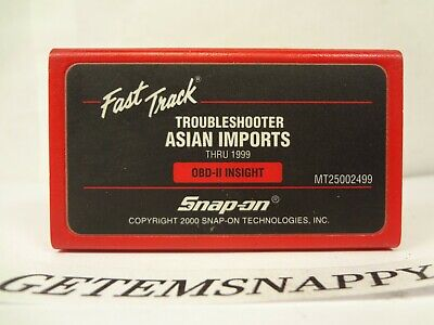 Snap On 1999 Asian Troubleshooter Cartridge MT2500 Scanner