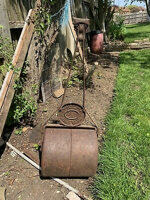 Vintage Victorian Grass Roller Cast Iron T Green & Sons Worth Over £200