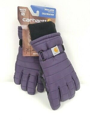 Carhartt Womens Quilts Insulated Winter Gloves Cold Weather Purple SMALL WA575