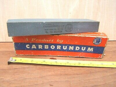 Vintage Carborundum Sharpening Stone by The Carborundum Co. in original box