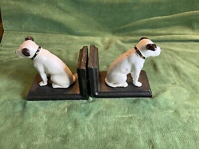 jack russell Dog Cast Iron Book Ends