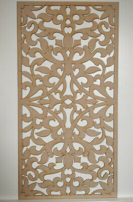 Radiator Cabinet decor. Screening Perforated 3mm & 6mm thick MDF laser cut G20B