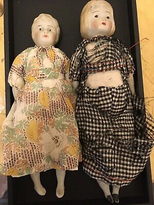 Cute Little Vintage Antique Bisque DOLLS Doll lot