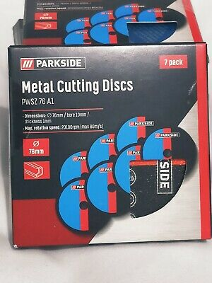 Parkside 76mm Metal Cutting Discs PWSZ 76 A1 Ultra Thin 7 pack