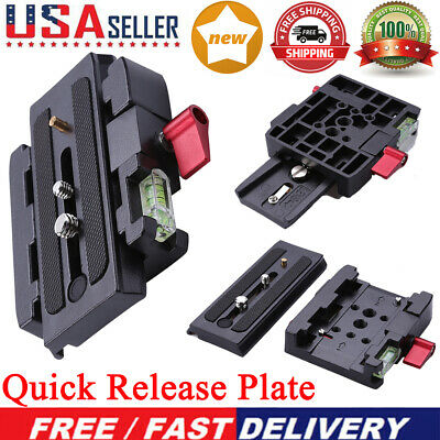 Quick Release Plate P200Clamp Adapter for Manfrotto 577 501 500AH 701HDV 50 US