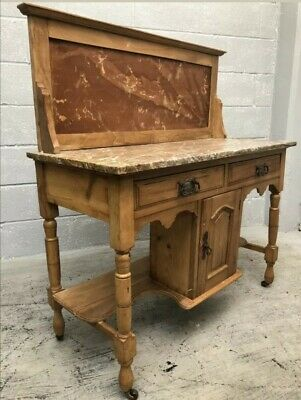 Antique Marble Top Wash Stand with pine frame