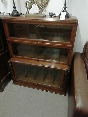 Vintage / Antique Oak Lawyers Barristers  Bookcase