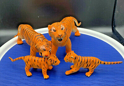 AAA Rubber Tigers and two Cubs Toys Figurines Tiger Man