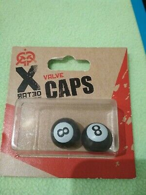 2 X Valve Caps from Halfwords. New . design with number 8