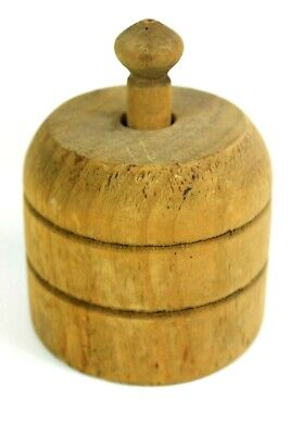 Antique Primitive  Large Wooden  Butter  Mold 100+ years old