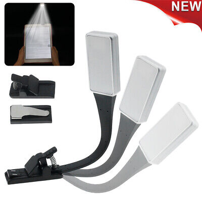 Clip On Book Reading Light Lamp LED Small Tiny Portable Flexible Reading Lamp