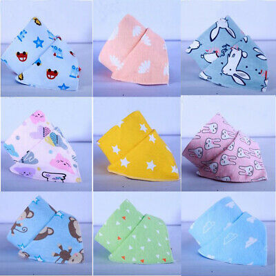 5Pcs Cute Baby Bandana Dribble Feeding Bibs Multi Pack Girls Boys Cotton Gift