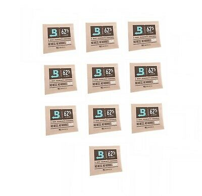 Boveda 62% RH 2 Way Humidity Control Pack 4 Gram Individually Wrapped - 10 PACK