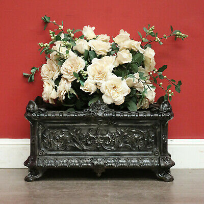 Antique French Jardiniere Antique Cast Iron Planter Pot Plant Holder Planter Box