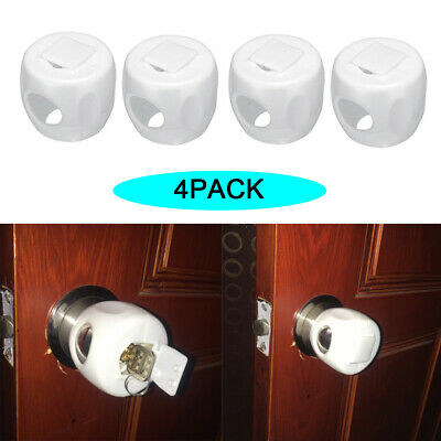 4pcs Children Safety Lock Door Knob Cover Child Proof Safe Kids Toddler Guard*