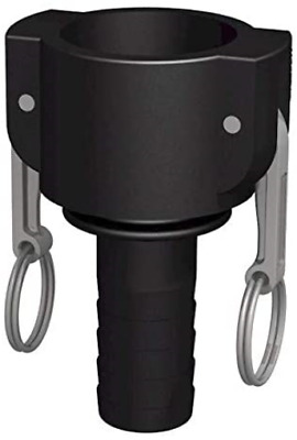 CPP Camlock Female 1/2-Male Fluted Right 1 1/4 Inch 32 mm IBC Connector Black