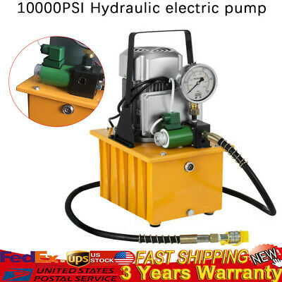 NEW Electric Driven Hydraulic Pump 10000 PSI Pedal Solenoid Valve Control 70Mpa