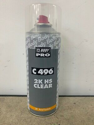 HB Body 2K 496 Aerosol Paint Lacquer Clear Coat High Gloss Finish Fast Drying