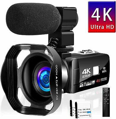 4K Camcorder Video Camera Vlogging YouTube 30MP Touch Screen Night Vision 3.0