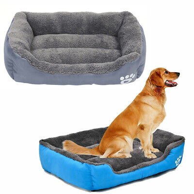 Dog Bed Soft Washable Fleece Cushion Puppy Pet Basket Cat Deluxe Warm Kennel New