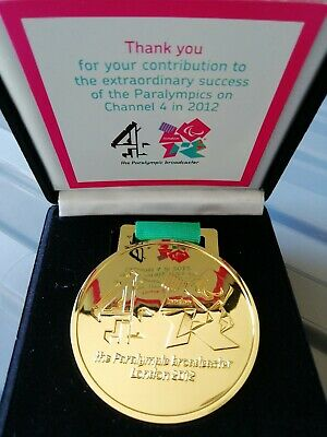 Paralympics 2012 Channel 4 Broadcaster Services Medal In Box Presentation. Rare