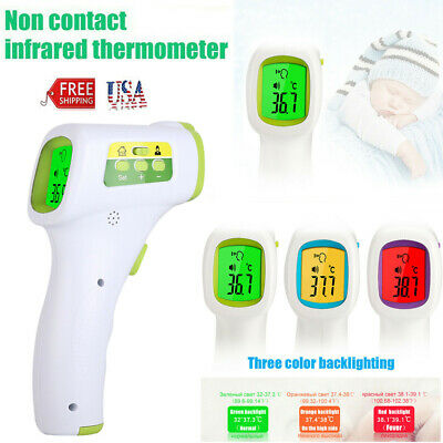 No Touch Infrared Digital Body Forehead Thermometer Gun °F/°C For Adults Baby US