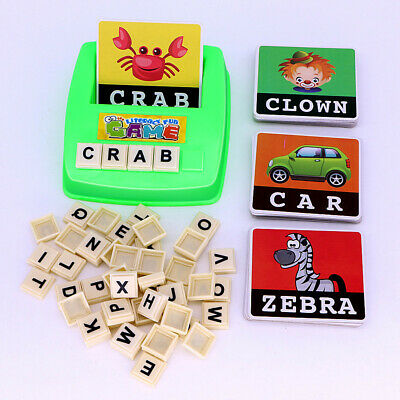 Kids English Spelling Game Alphabet Letter Learning Early Educational Plastic