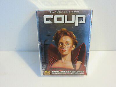 Coup The Dystopian Universe Game Of Intrigue Indie Boards & Cards New Sealed