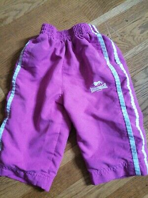 Lonsdale Baby Girl Age 6-12 Months Pink Tracksuit Bottoms
