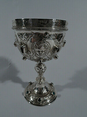 Victorian Goblet - Antique Cup - Sterling Silver Jewels - English Import 1900