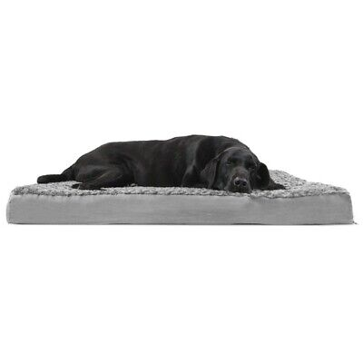 FurHaven Ultra Plush Deluxe Orthopedic Pet Bed Dog Bed - Jumbo, Gray
