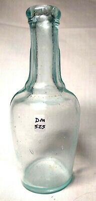 Circa 1875 Fluted Aqua Peppersauce Bottle, Small Size