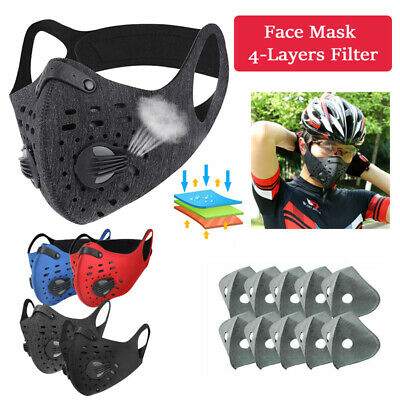 Face Cover Activated Carbon Protective Filter pad Outdoor Cycling Anti-Pollution