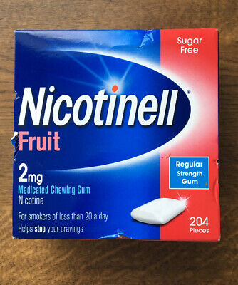 Nicotinell Fruit flavour 2mg Medicated Chewing Gum 204 pieces Brand New