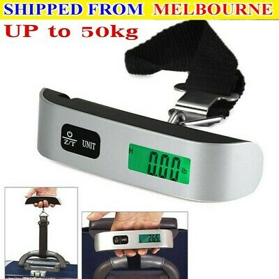 NEW AU Portable LCD Digital Hanging Luggage Scale Travel Electronic Weight AZ
