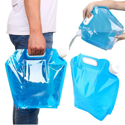 10L Camping Hiking Folding Water Storage Lifting Bag Survival Outdoor Travel